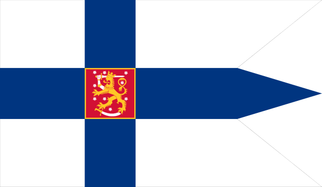 Finnish War flag and Naval Ensign